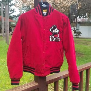 Oldie Mickey Mouse Red Corduroy Jacket